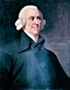 "Adam Smith, contrary to popular belief, did not admire the ""invisible hand"" and saw it as an ironic joke to criticize the destructive greed of business elites"
