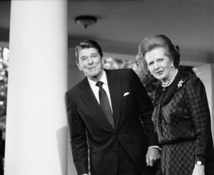 Margaret Thatcher and Ronald Reagan embraced the neoliberal, free market economic ideas of the Mont Pelerin Society