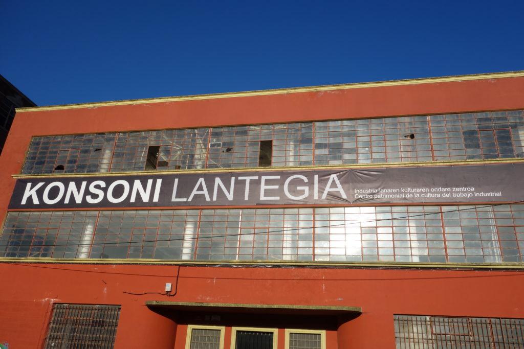 Old factory converted into cultural space in gentrified former industrial area of Bilbao, Spain