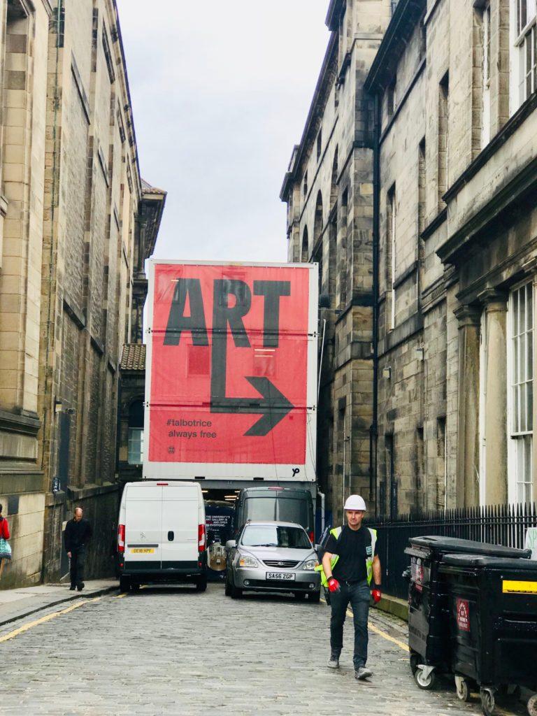 An image of Edinburgh, Scotland presenting itself as the 'world's leading festival city'