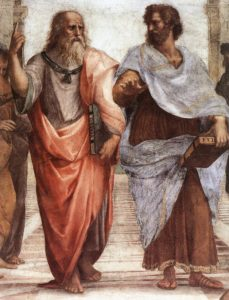 Detail of Plato and Aristotle from The School of Athens (c. 1509) by Raphael