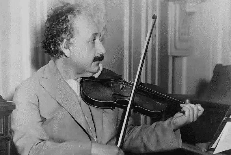 Albert Einstein playing the violin
