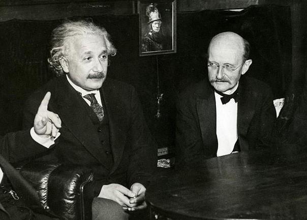 Albert Einstein and Max Planck in 1931