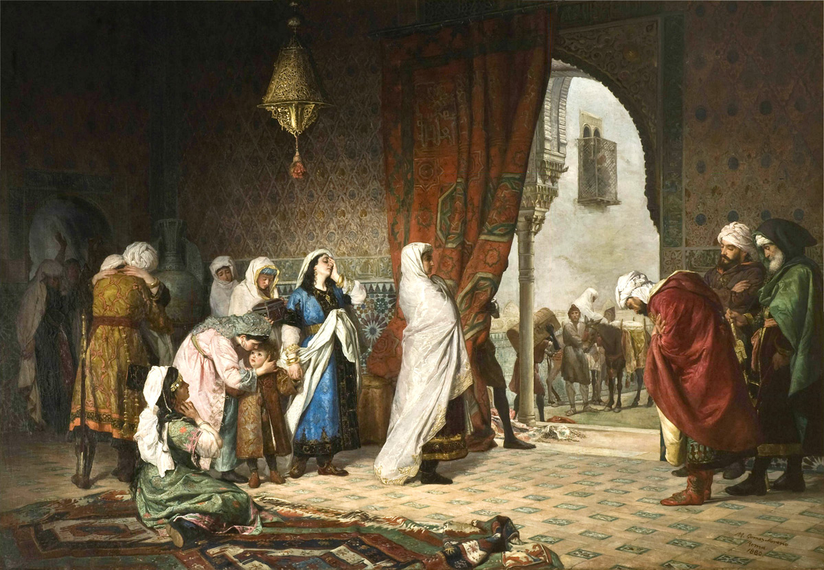 Muhammad XII's family in the Alhambra moments after the fall of Granada, by Manuel Gómez-Moreno González, c. 1880