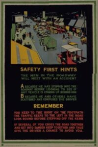 An early example of safetyism in the UK in 1916